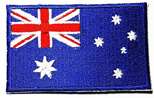 Commonwealth of Australia Aussie Australian Flag Patch T- shirt Sport Logo Patch Sew Iron on Embroidered Badge Sign (Aussie Flag Dress)