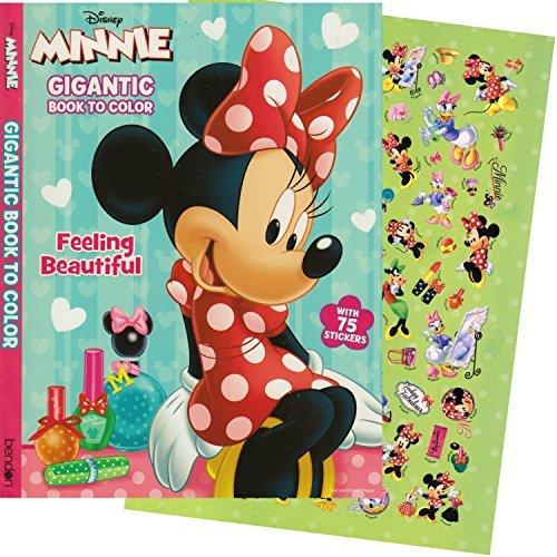 Minnie Mouse GIGANTIC Coloring Book with Stickers (244 Pages) - 1