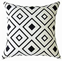 Wendana Geometry Decorative Pillowcase Cushion Cover Birthday Gift 18 x18 Inches by wendana
