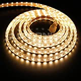 BINZET 10ft/3M 5050 SMD 110V-120V Warm White LED Rope Light IP67 Waterproof Garden Patio Outdoor Decoration, Festival LED Lighting, Celebration Decoration, Wedding DIY led Lights