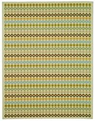 "6'4"" x 8'7"" Rectangular Oscar Isberian Rugs Area Rug Cinnamon Color Machine Made Belgium ""Martha Stewart Collection"" Pinwheel Design"