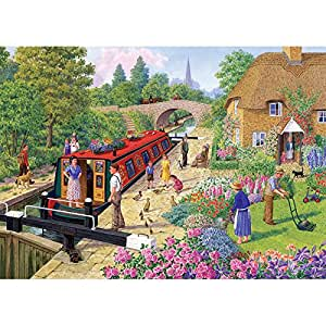 Gibsons The Lock Keeper's Cottage Jigsaw Puzzle (1000 Pieces)