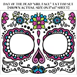 Day Of Dead Face Tattoos 74679