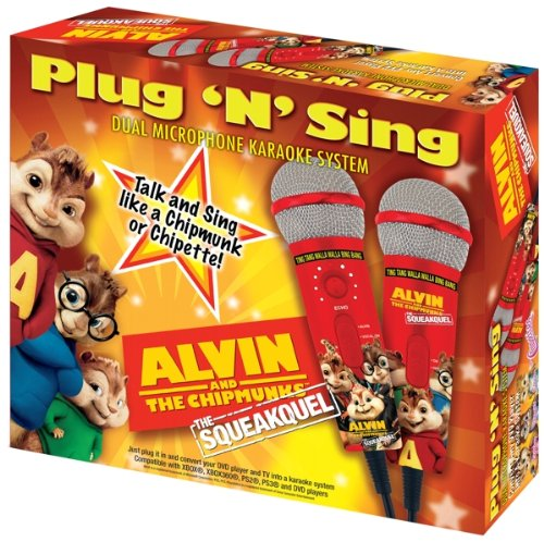 Emerson Mm209A Alvin & The Chipmunks Dual Plug N Sing Microphones And 100 Songs On Dvd