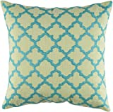 Rizzy Home T-4067 Decorative Pillows, 18 by 18-Inch, Lime Green/Aqua, Set of 2