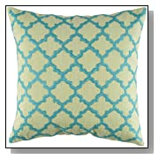 Rizzy Home 18-Inch by 18-Inch Decorative Pillows, Lime Green/Aqua, Set of 2