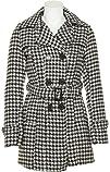 Jou Jou Womens Herringbone Double-Breasted Coat