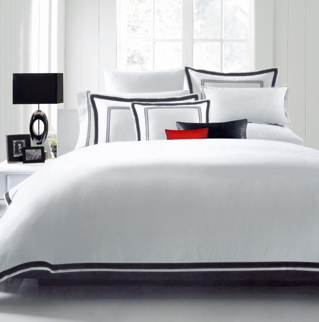 King Duvet Comforter Cover Sham Set Wrinkle Free White