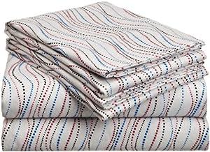 SAFAH Pointehaven Heavy Weight Printed Flannel Sheet Set