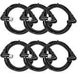 Seismic Audio - SARAX6-6 - 6 Pack of 6 Foot Right Angle XLR Male to XLR Female Patch Cables