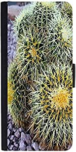 Snoogg Barrel Cactus Graphic Snap On Hard Back Leather + Pc Flip Cover Apple ...