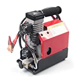 GX Portable PCP Air Compressor,4500Psi/30Mpa,Oil-Free,Powered by Car 12V DC or Home 110V AC with Adapter,Paintball/Scuba Tank Compressor(CS2) (Color: Red)