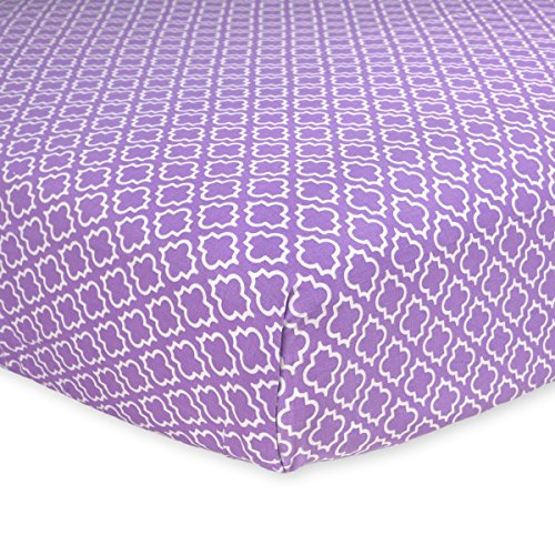Carter's Cotton Fitted Crib Sheet, Lilac Dream Diamond