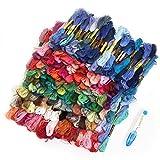 WAIWAIGOODS カラフル 刺しゅう糸 色とりどり 大量 多色組 + 糸切りはさみ セット (200本セット)