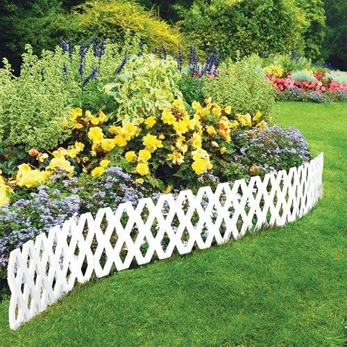 4 Pc Outdoor Flexible Lattice Weatherproof Plastic Garden Edging Border (Lattice Panels compare prices)