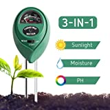 VIVOSUN Soil Tester, 3-in-1 Plant Moisture Meter Light and PH Tester for Home, Garden, Lawn, Farm, Indoor & Outdoor Use, Promote Plants Healthy Growth (Color: Soil tester)