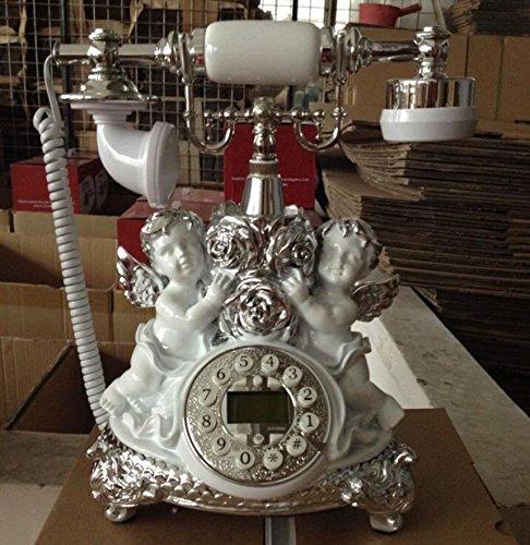 xie-dore-argente-en-resine-home-fashion-angels-classical-europeenne-telephone-appelant-sans-batterie