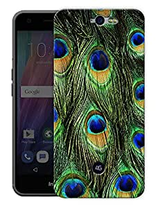 "Peacock Feather Pattern Printed Designer Mobile Back Cover For ""Google Infocus M812"" By Humor Gang (3D, Matte Finish, Premium Quality, Protective Snap On Slim Hard Phone Case, Multi Color)"