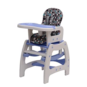 Baby Toddler Rocking Feeding Highchair Booster Seat Multifunctional 3 in 1 Chair+Table+Rocking Base New Blue       Customer reviews and more news