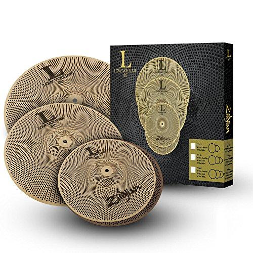 Zildjian-L80-Low-Volume-Practice-Cymbal-Set-LV468-14-Hats-16-Crash-18-Crash-Ride