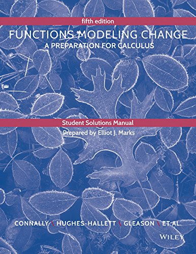 Student Solutions Manual to accompany Functions Modeling Change (Functions Modeling Change compare prices)