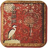 Beverly Turner Photography Crane And Lantern Happy Chinese New Year In Chine Coaster, Soft, Set Of 8