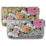 Ed Hardy Womens Felidae Spring Zip Around Wallet
