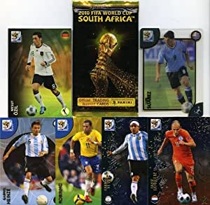 """Extremely Rare 2010 Panini FIFA World Cup PREMIUM Foil Pack! 6 Cards per Pack. Look for Special """"Rainbow"""", """"Metalized"""" and """"UltraCards"""". Plus Look for VERY RARE Randomly Inserted Autograph Player Cards"""