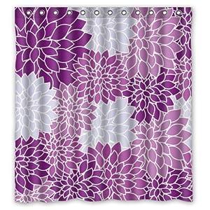 pretty purple white petals flowers shower