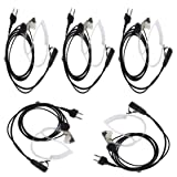 5 X Air Acoustic tube earpiece headset Compatible For Midland GMRS/FRS GXT/LXT Midland/Alan 2-pin Radio G5 M99 75-810 Nautico 3 Ocean SP-410 2 Two Way Radio (5 Packs)