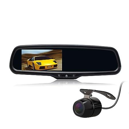 """Fonction VOX 2 sorties vidéo 4.3 """"LCD rétroviseur pour caméra de recul avec Support universel"""