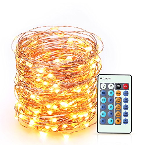 BearMoo String Lights for Bedroom and Outdoor Use 66ft 200 LEDs Decorative Fairy Lights Starry String Lights Copper Wire Lights for Christmas Halloween Wedding, Fully Waterproof, Warm White Light