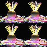 [L1-300-FBA] 大量 カラフル 全8色 1000 本 / 200 本 / 100 本 / 50 本 光る ブレスレット ケミカルライト セット ♪ ジョイント も同数セット で沢山の ブレスレット ネックレス が作れます!赤 橙 黄 青 黄緑 ピンク 紫 水色 スティック + スノーマーク 遮光 撥水 バッグ 計3点セット ♪♪ ルミライト < 8色 300本 >