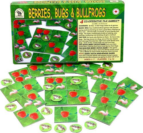 Family Pastimes Berries, Bugs and Bullfrogs - Four Co-operative Tile Games