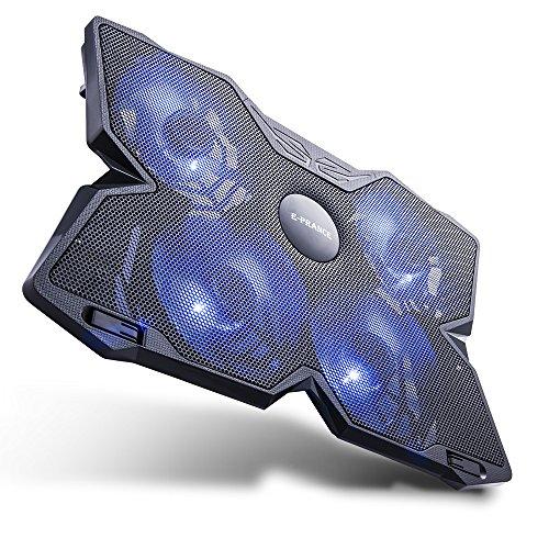 E-PRANCE® ノートパソコン 冷却パッド 冷却台 ノートPCクーラー クール 超静音 USBポート2口 LED搭載 USB接続 17インチ型まで対応4ファン