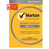 Norton Security Premium – 10 Devices – 1 Year Subscription - Product Key Card - 2019 Ready