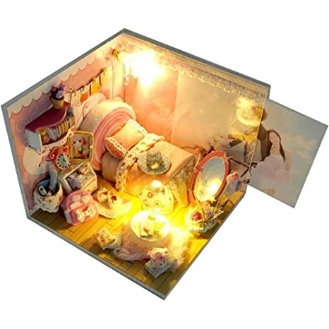 DIY Doll House Sweet Dream Set Maison ModèLe De BâTiment Assemblé à La Main Toy (Sans Photo)