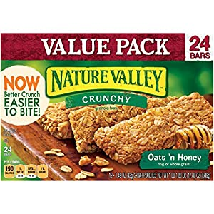 Nature Valley Crunchy Granola Bars, Oats 'n Honey, 24 Bars