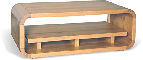 Lounge Oak Living Coffee Table With Shelf - Stunning Retro Style