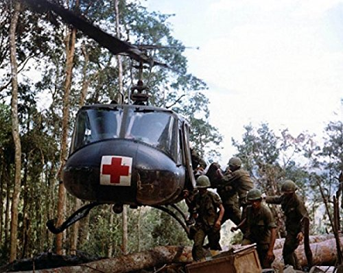 Bell Huey Helicopter Medical Evacuation, Vietnam Poster Print by McMahan Photo Archive (10 x 8)
