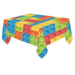 Unique Debora Custom Tablecloth Cover Cotton Linen Cloth Lego Pattern For Dining Room, Tea Table, Picnics, Parties DT-16