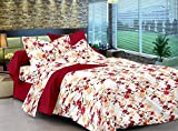 Ahmedabad Cotton Comfort Floral Cotton Double Bedsheet with 2 pillow covers