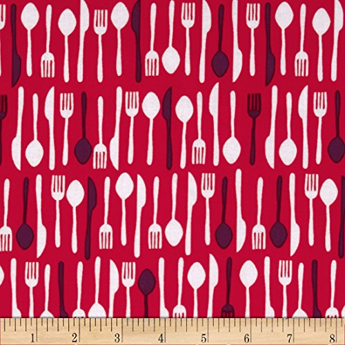 Table Talk Forks Knives & Spoons Retro Fabric