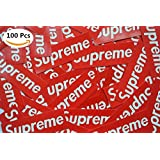 100 Piece Supreme Stickers Waterproof And Oil Proof Supreme Sticker, Car, Supreme Skateboarding, Laptop, Custom Sticker DIY, Vinyl Sticker Graffiti Decal