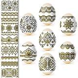 Ukrainian Heat Shrink Wrap Sleeve Decoration Easter Egg Wrappers Pysanka Arounds Set (Golden Eggs) (Color: Golden Eggs)