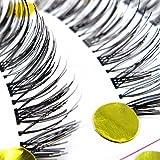 eFuture(TM) 1Set(10 pairs) Reusable with Transparent Stems Thick Wispies Handcraft Natural False Eyelashes +eFutures nice Keyring