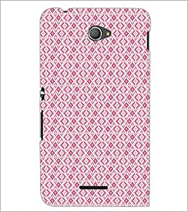 PrintDhaba Pattern D-5133 Back Case Cover for SONY XPERIA E4 (Multi-Coloured)