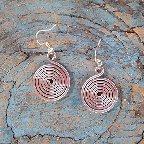 Cute Little Spiral Earrings: Handmade Jewelry That Empowers Moms to Rise Above Poverty. Handmade with Love in the Dominican Republic by Madres Jewelry. (Handmade Wire Jewelry compare prices)