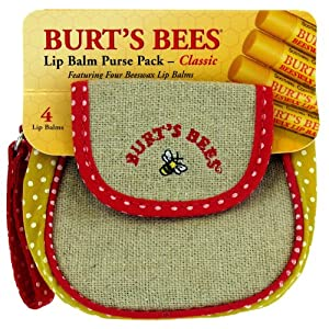 Burt's Bees Lip Balm Purse Pack - Classic 4 unit $9.99