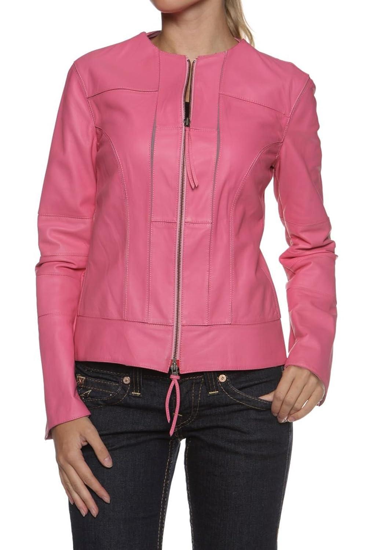 Cristiano di Thiene Damen Jacke Lederjacke BELLA, Farbe: Pink günstig bestellen